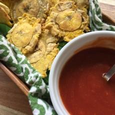 Como se hacen los tostones o patacones al horno. Receta de tostones al horno. www.ensalpicadas.com
