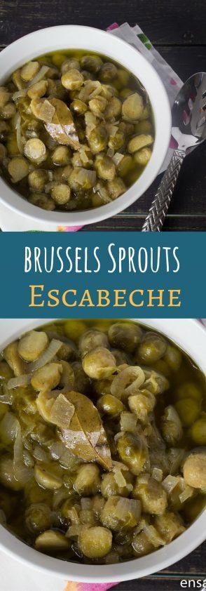 Receta de Brussels Sprouts en Escabeche. Coles de bruselas escabeche.