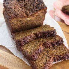 REceta de Pan de Guineo fácil y delicioso con una textura muy suave y sabor incomparable.