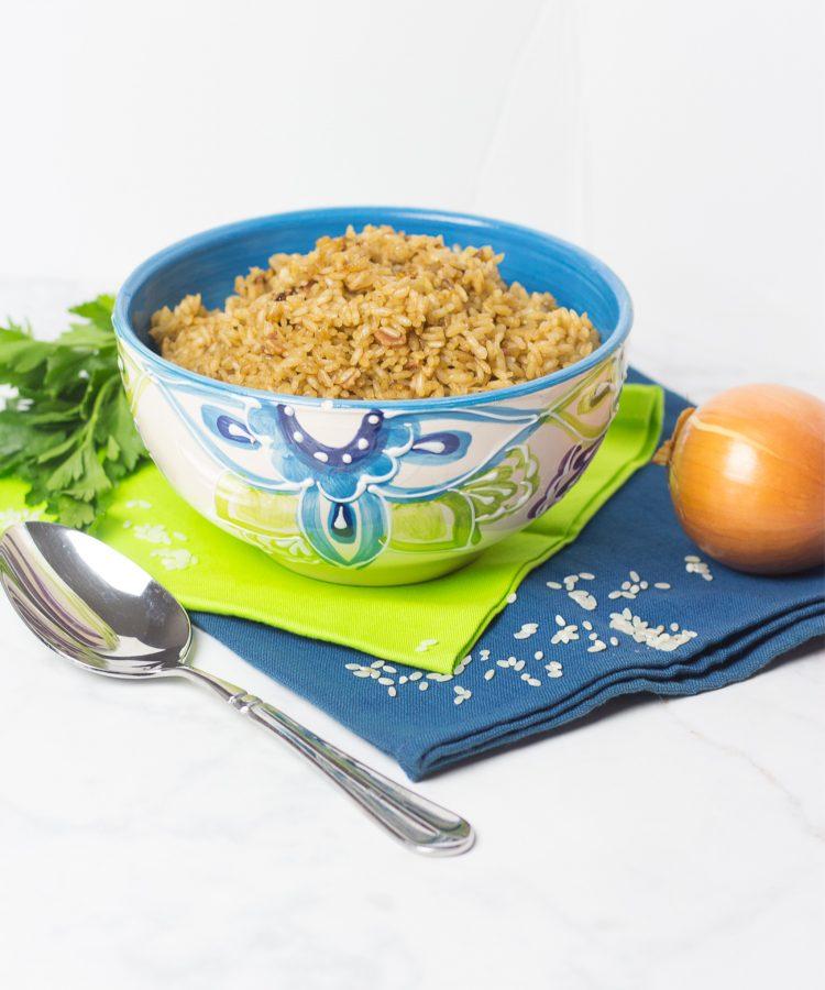 REceta de arroz con cebolla