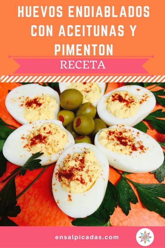 Huevos Endiablados Con Aceitunas y Pimenton