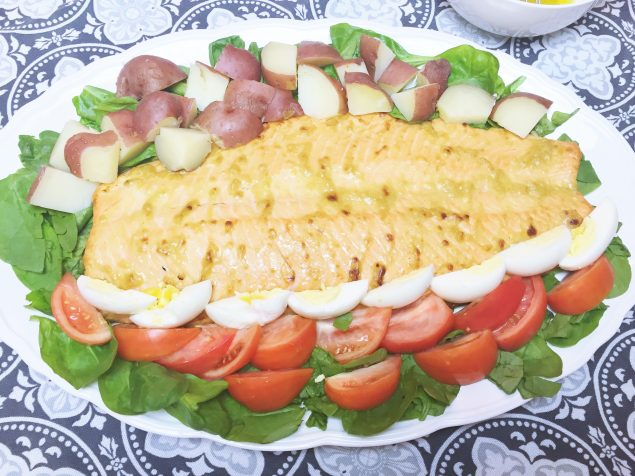 Receta de salmón al horno.