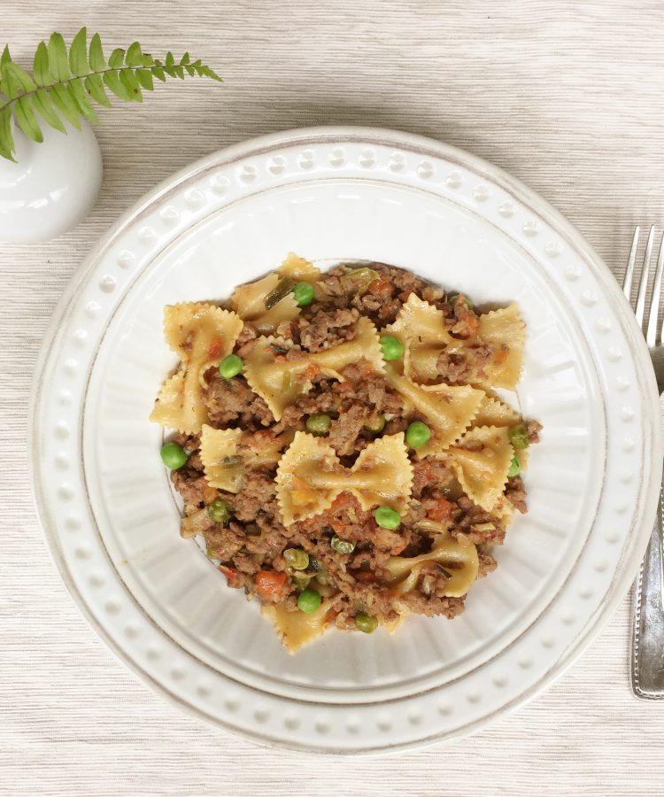 Receta muy rica y fácil de pasta con carne molida (no italiana).