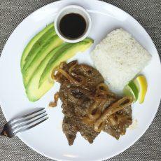 Receta de bistec con sabor oriental.