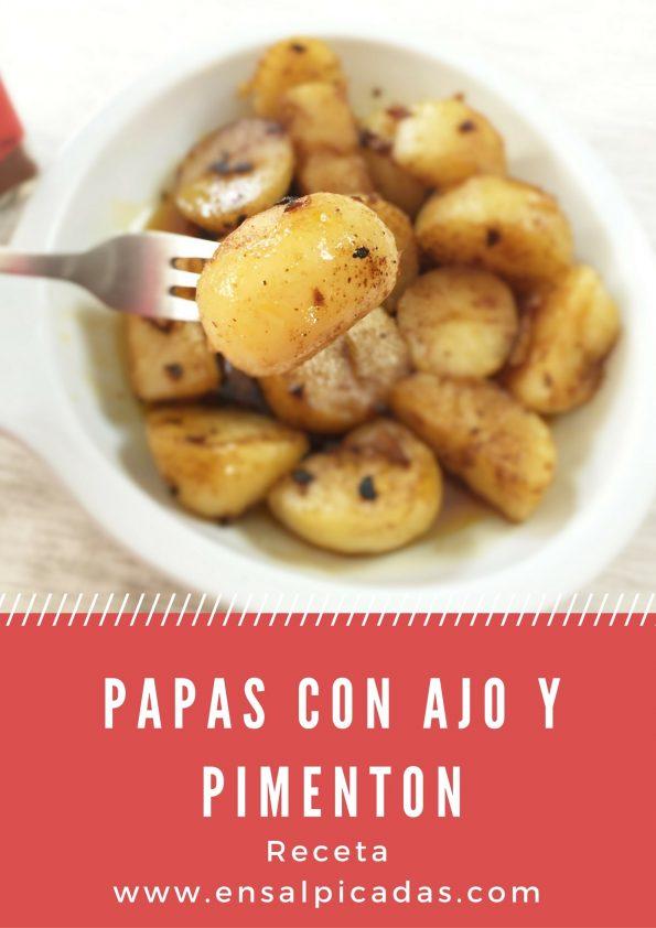 Espectacular y facil receta de Papas con Ajo y Pimenton