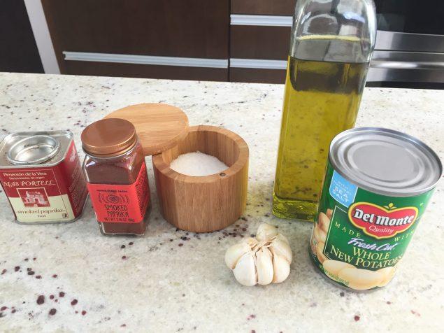 Papas al Horno con Ajo y Pimenton Ingredientes