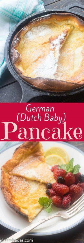 German (Dutch baby) Pancake receta especatcular. Te va a encantar!!