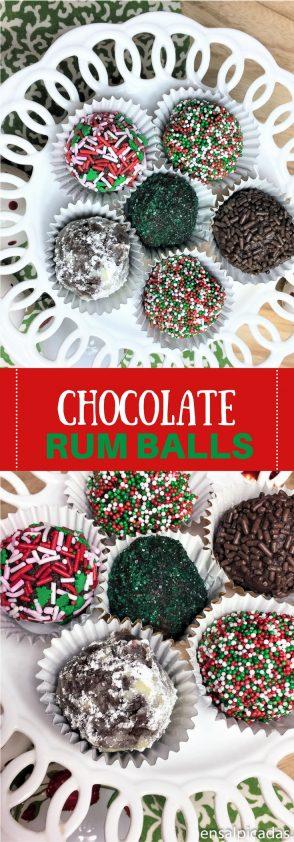 Receta de Chocolate Rum Balls. Tienes que probarlas!