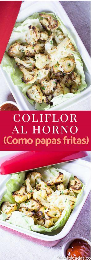 Receta de Coliflor al Horno que sabe como papas fritas!!!
