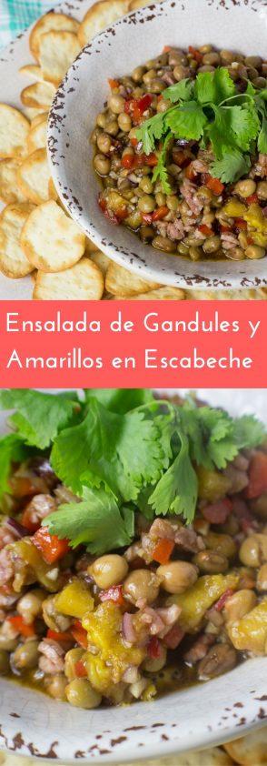 Receta de Ensalada de Gandules y Amarillos Escabeche