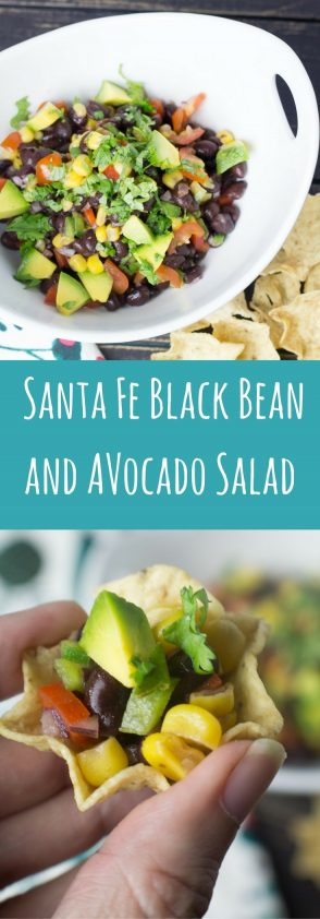 Santa Fe bean salad recipe in Spanish with translator.