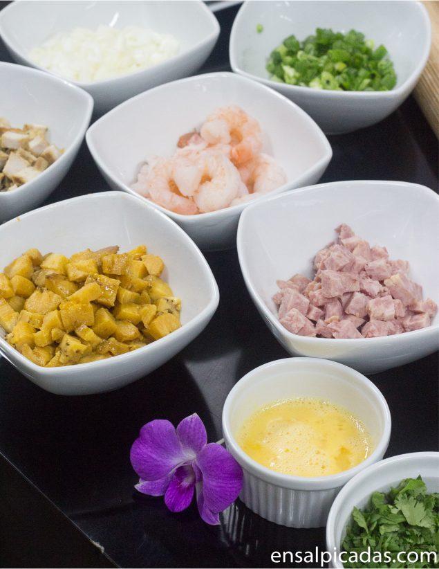 Receta de arroz chino latino.