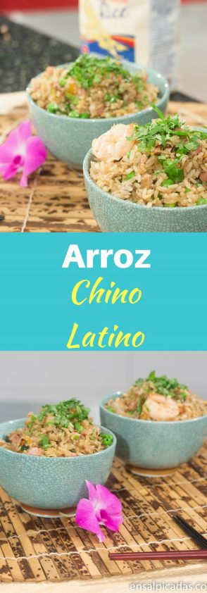 Receta de Arroz Chino Latino. Arroz frito estilo criollo-latino.