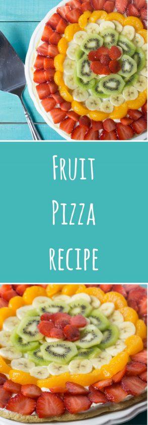 Fruit Pizza Recipe. With Translator.