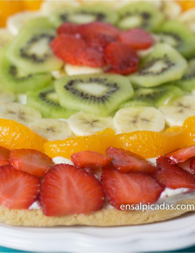 Receta de Pizza de Frutas. Tarta de Frutas.