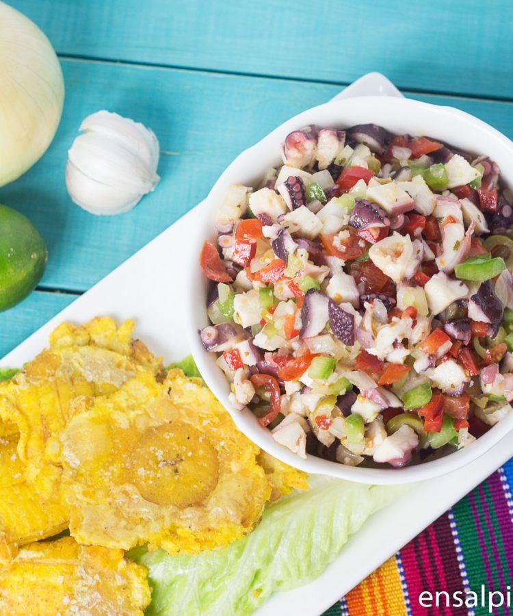 Receta de Ensalada de Pulpo con Pulpo pre-cocido.