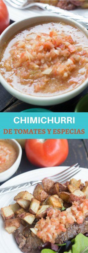 Receta de Chimichurri de Tomates y Especias, riquísima.
