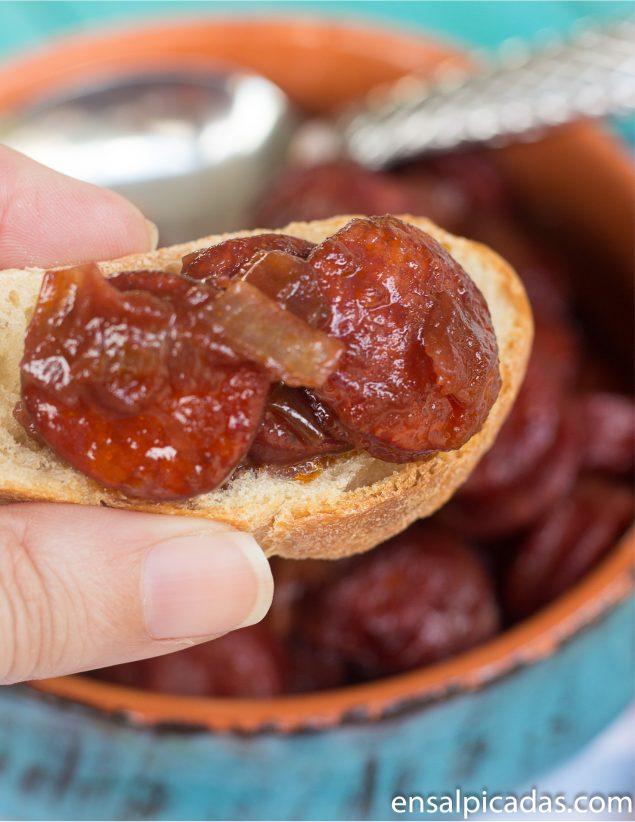 Receta de Chorizo al Vino.