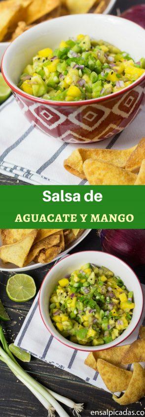 Receta de Salsa de Aguacate y Mango estilo oriental.