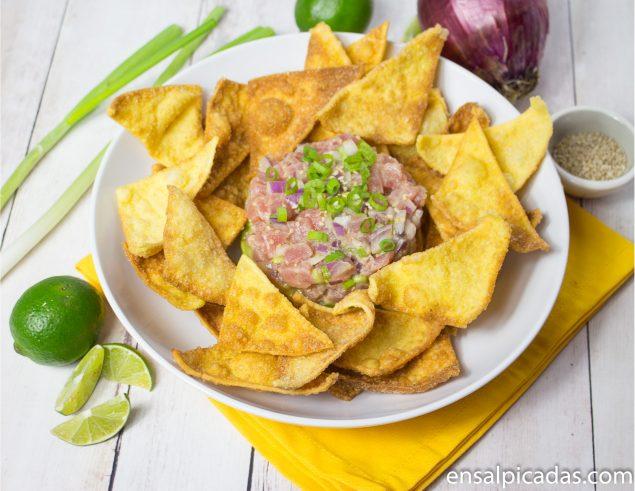 Receta de el mejor tartar de atún, tuna tartare