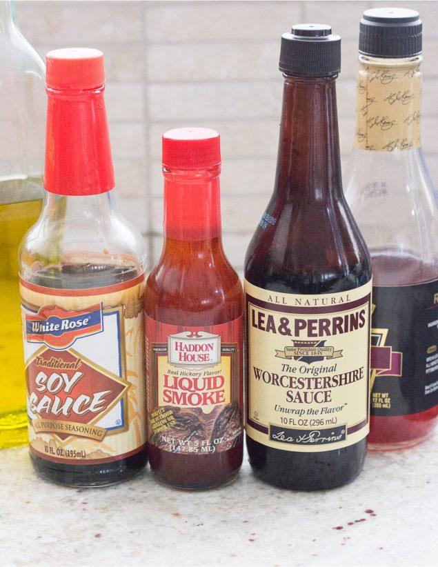 Ingredientes para marinada para carnes