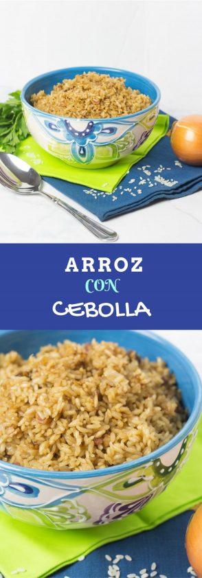 Receta de arroz con cebolla en olla arrocera muy facil.