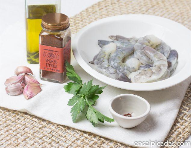 Receta de Camarones al Ajillo con Pimenton y Azafran