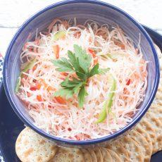 Receta de Ensalada de King Crab Puertorriqueño (cangrejo escabeche)