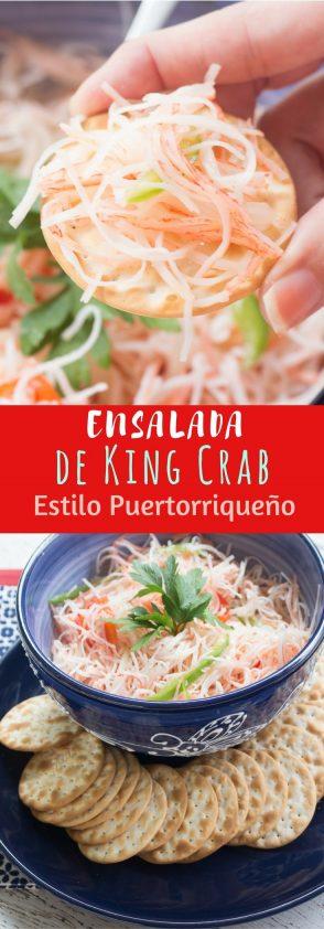 Receta de Ensalada de king crab al estilo puertorriqueño (cangrejo escabeche)