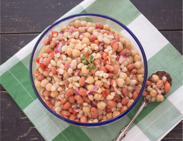 Receta de ensalada de granos con tocineta