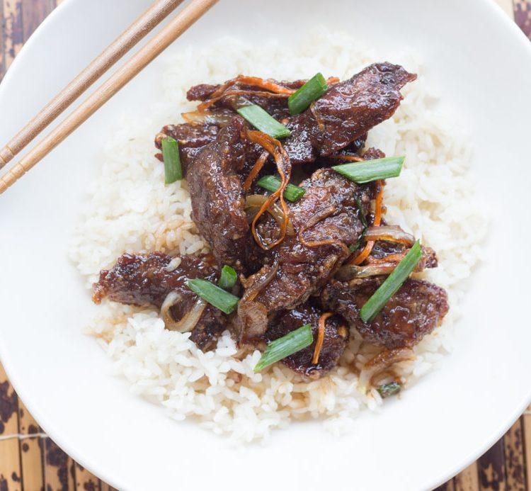 Receta de Carne Mongolian - Mongolian Beef