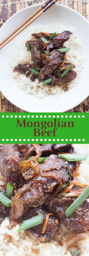 """Receta de carne mongolian o """"mongolian beef"""" estilo PF Changs"""