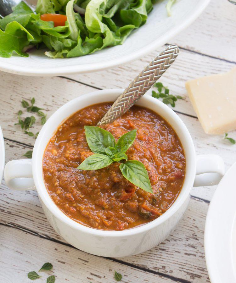 Como hacer Salsa Marinara con Tomates frescos