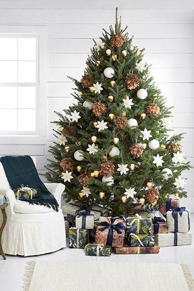 Decoracion de arboles de navidad rusticos