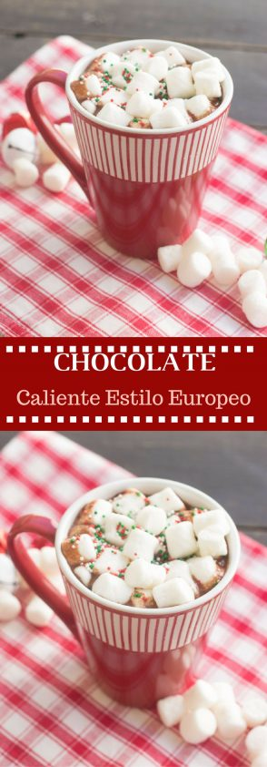 Receta de Chocolate Caliente Estilo Europeo espeso y chocolatoso