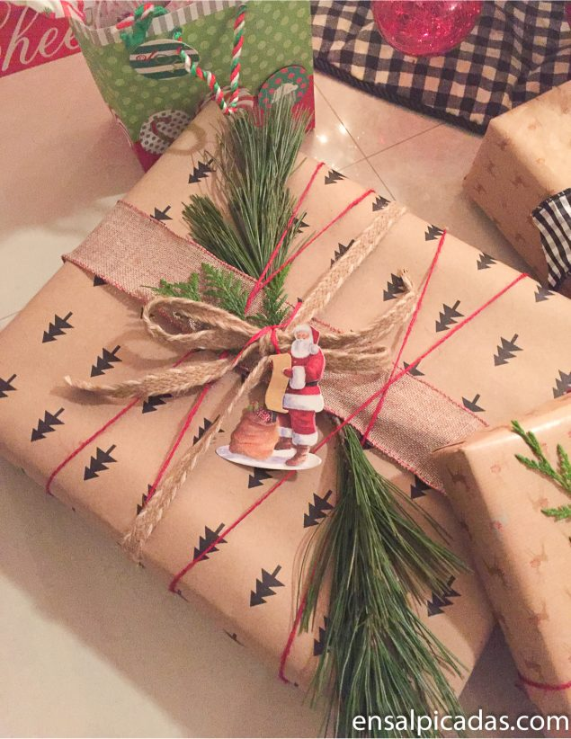 Envolturas de Regalo para Navidad. Christmas gift wrapping ideas.
