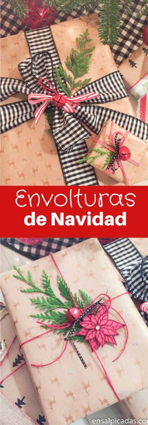 Ideas para envolturas de navidad. Christmas Gift Wrapping ideas.