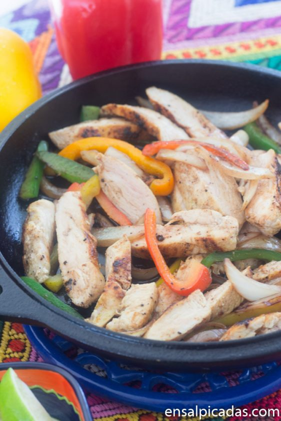 Fajitas al Estilo Restaurante Chilis
