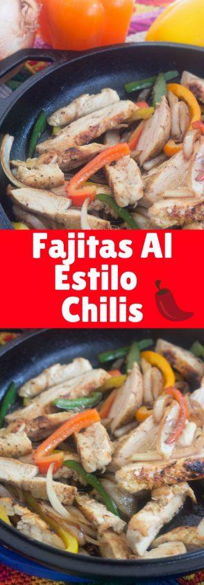 Fajitas al Estilo del Restaurante Chilis