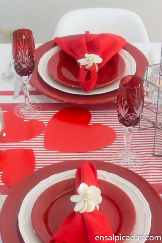 Ideas para San Valentin Decoracion de la Mesa