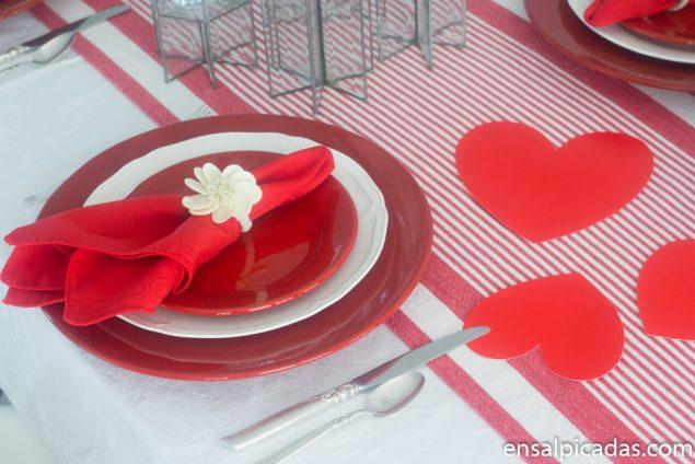 Ideas para decorar la mesa en San Valentin Decoracion de la Mesa