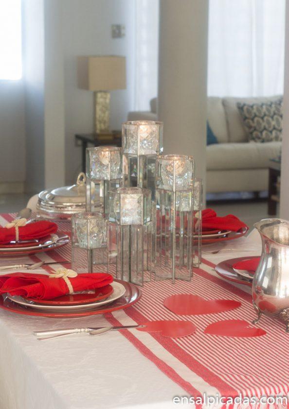Ideas para celebrar San Valentin Decoracion de la Mesa