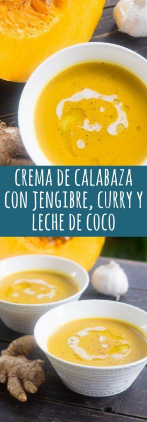 Receta de Crema de Calabaza con Jengibre, Curry y Leche de Coco
