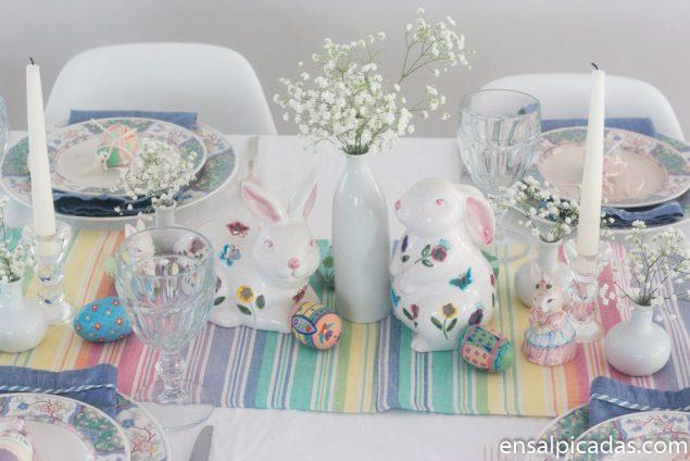 Ideas para la decoración de la mesa para Pascua.
