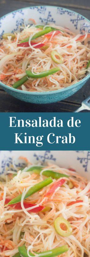 Deliciosa Receta de Ensalada de King Crab al estilo puertorriqueño