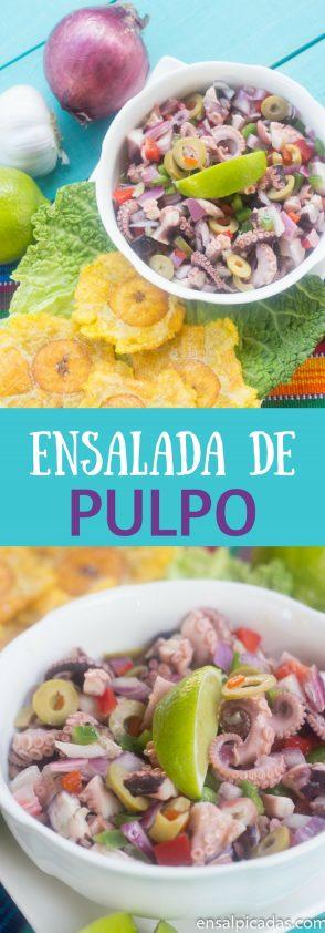 Receta de Ensalada de Pulpo con pulpitos congelados