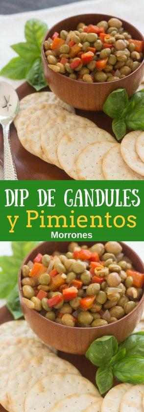 Receta de Dip o Ensalada de Gandules con Pimientos Morrones - peperonata