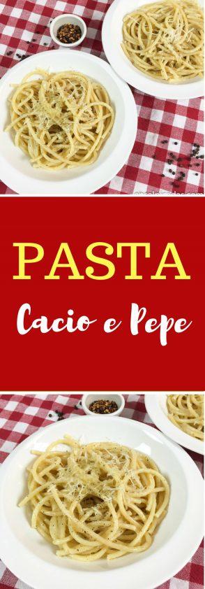 Receta de Pasta Cacio e Pepe muy fácil y bien auténtica.