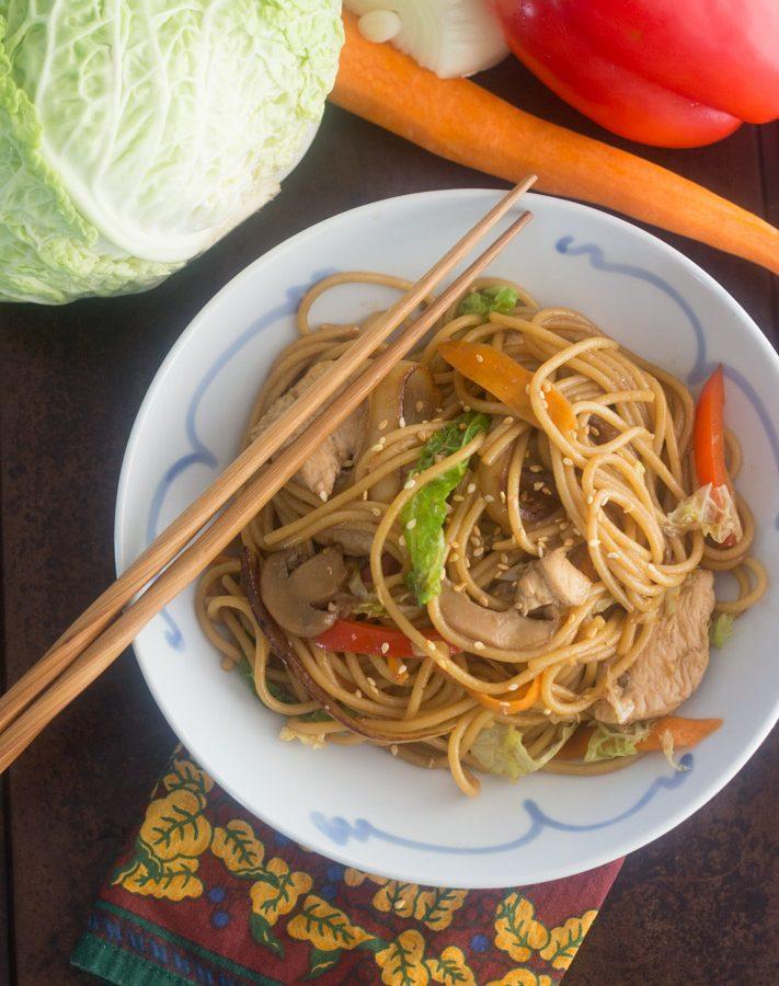 Recetas comida china lo mein