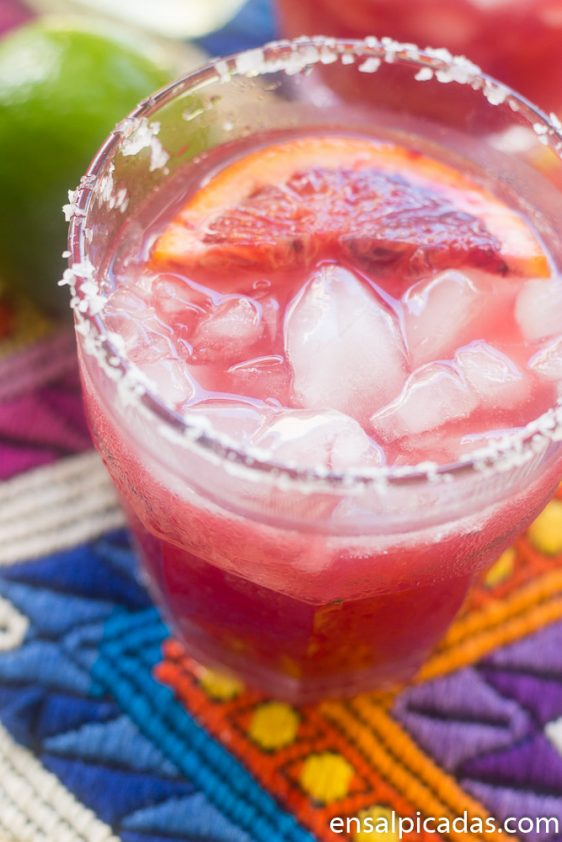 Receta de Blood Orange Skinny Margarita